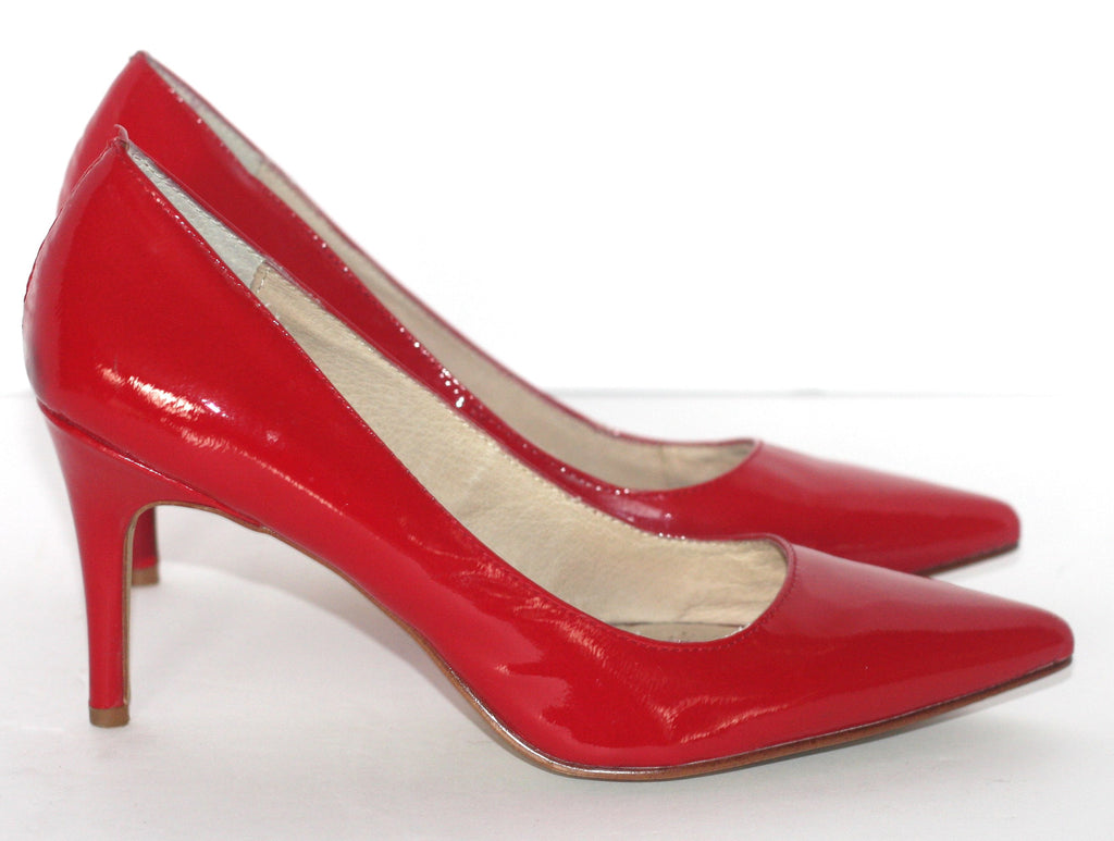 Kate & Mel Red Patent Leather Pump - Joyce's Closet  - 1