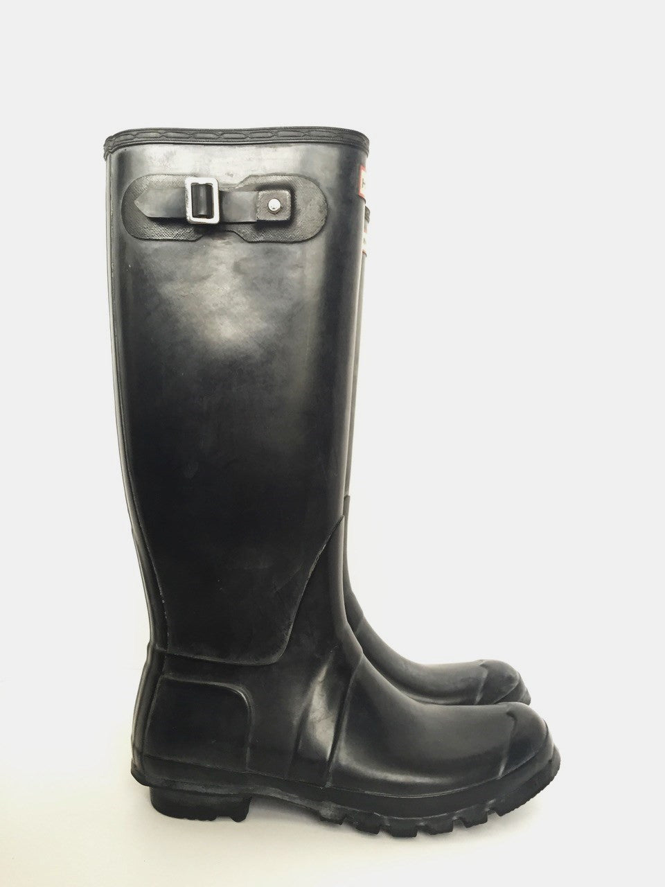Hunter Black Tall Rubber Rain Boots Size 10