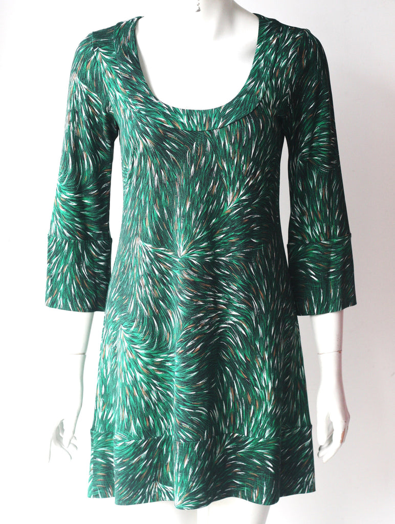 Diane Von Furstenberg Vintage Green Shift Dress - Joyce's Closet  - 1