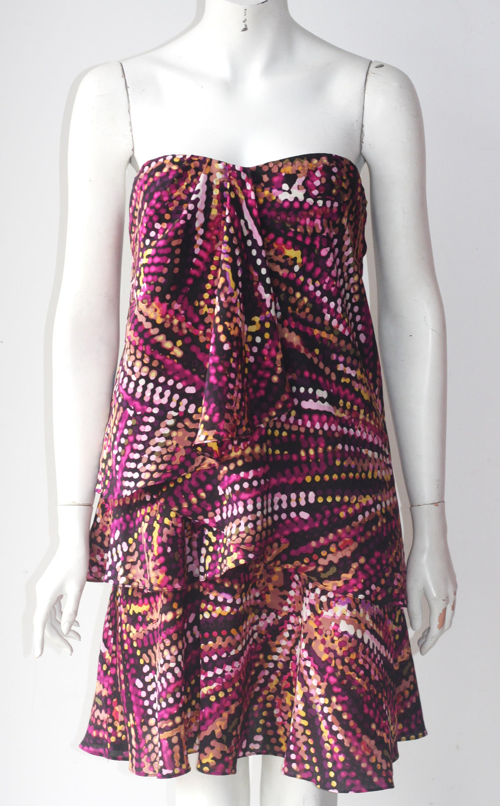 BCBG MaxAzria Multi-Color Strapless Dress - Joyce's Closet  - 1