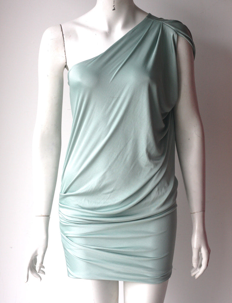 Guess By Marciano Green One Shoulder Draped Dress - Joyce's Closet  - 1