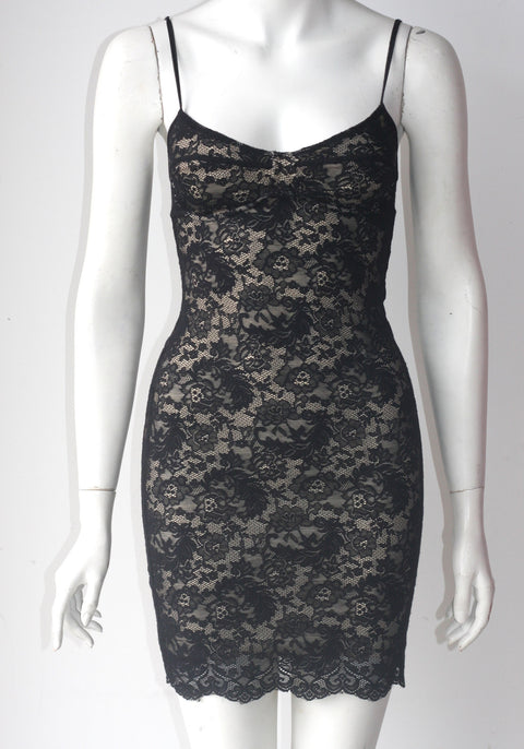 Wilfred Black Lace BodyCon Dress - Joyce's Closet  - 1