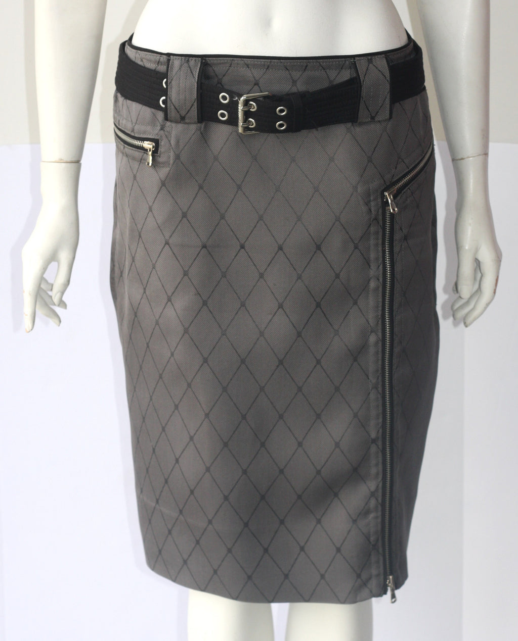 Marc By Marc Jacob Black & Grey Pencil Skirt - Joyce's Closet  - 1