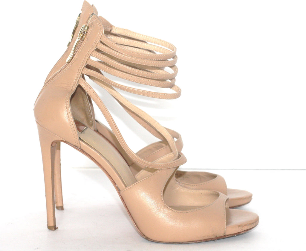 Guess By Marciano Nude Open Toe Strappy Sandals - Joyce's Closet  - 1