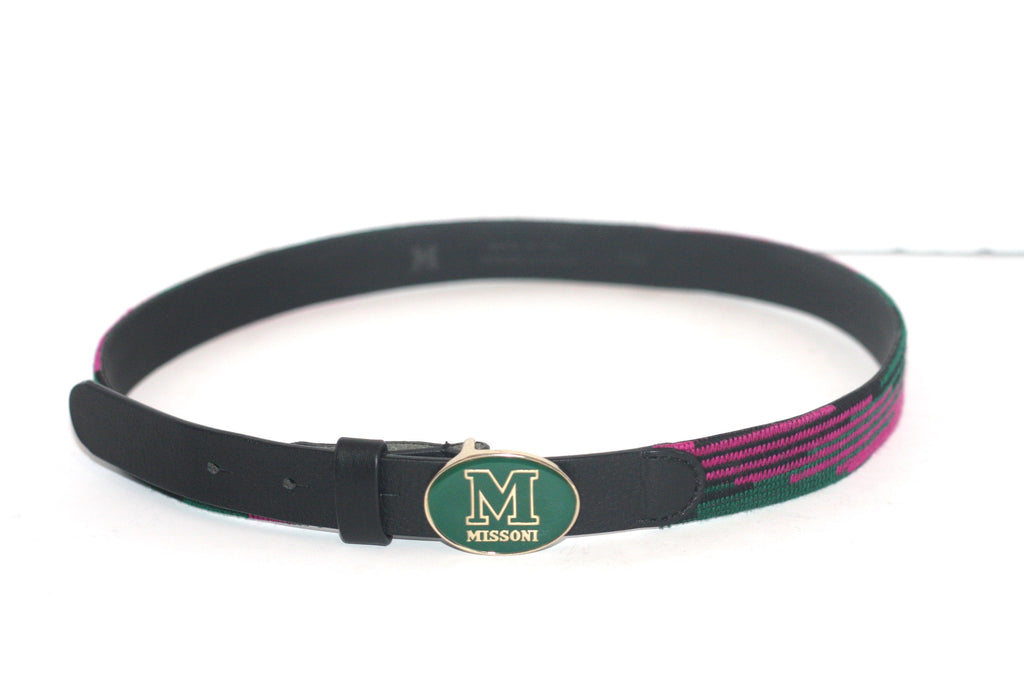 Brand New M by Missoni Multi-Color Leather Belt - Joyce's Closet  - 1