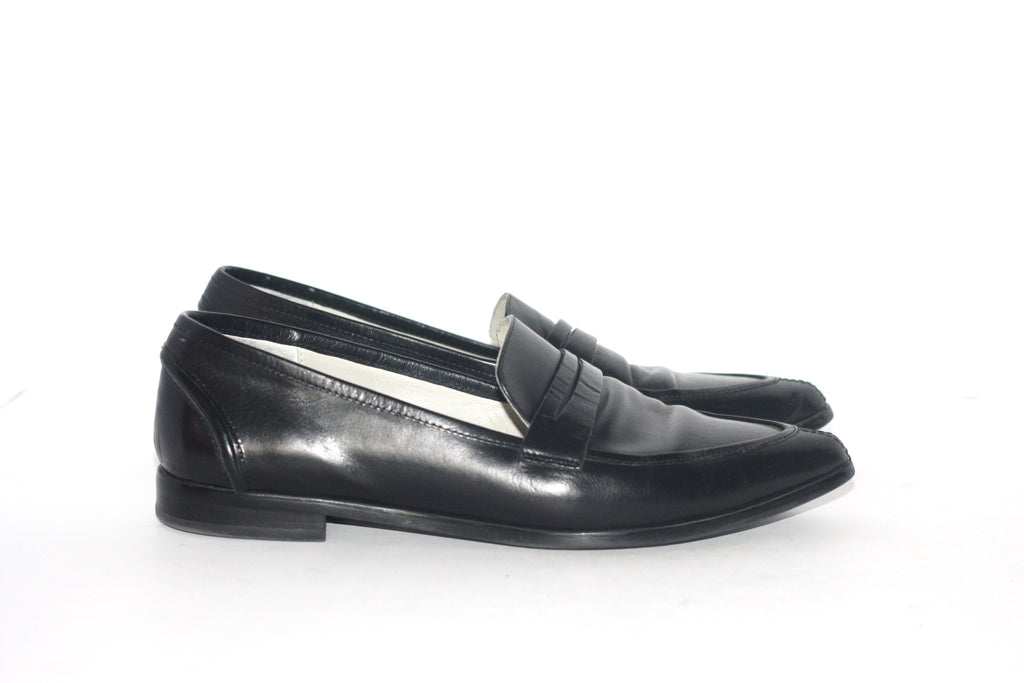 Tiger of Sweden Black Leather Pointed Toe Loafers - Joyce's Closet  - 1