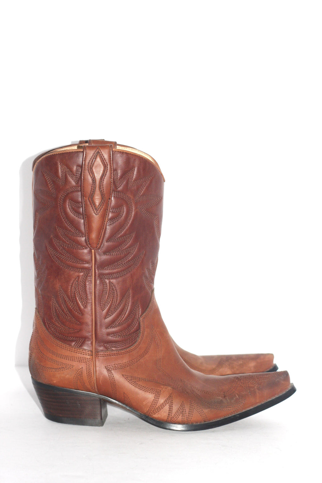 "Guess by Marciano Brown ""Punk"" Cowboy Boots - Joyce's Closet  - 1"