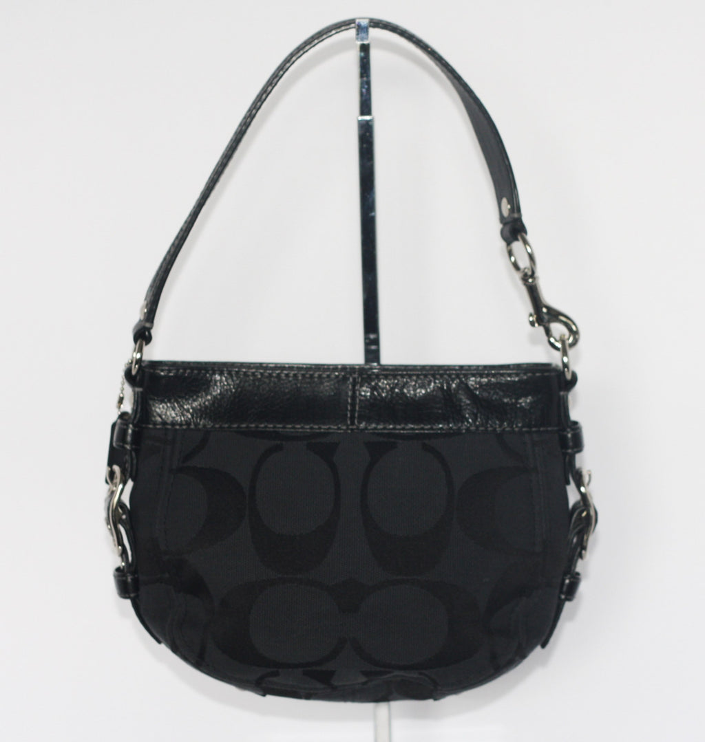 Coach Black Canvas Monogram Mini Bag - Joyce's Closet  - 1
