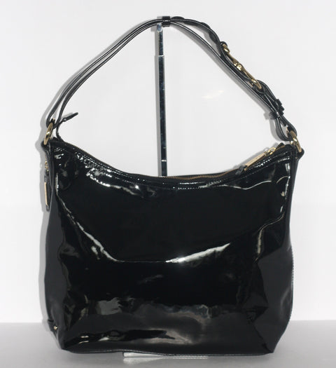 Cole Haan Black Patent Leather Hobo Bag - Joyce's Closet  - 1