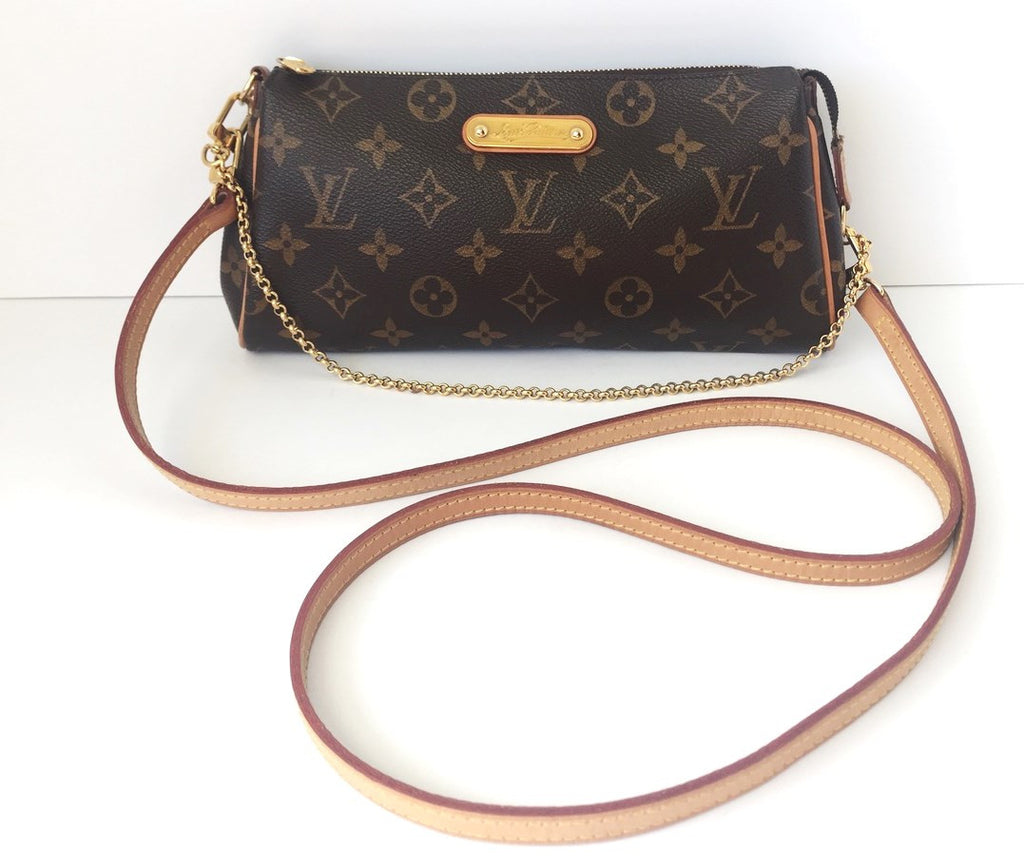Louis Vuitton Monogram Canvas Eva Cross Body Chain Clutch