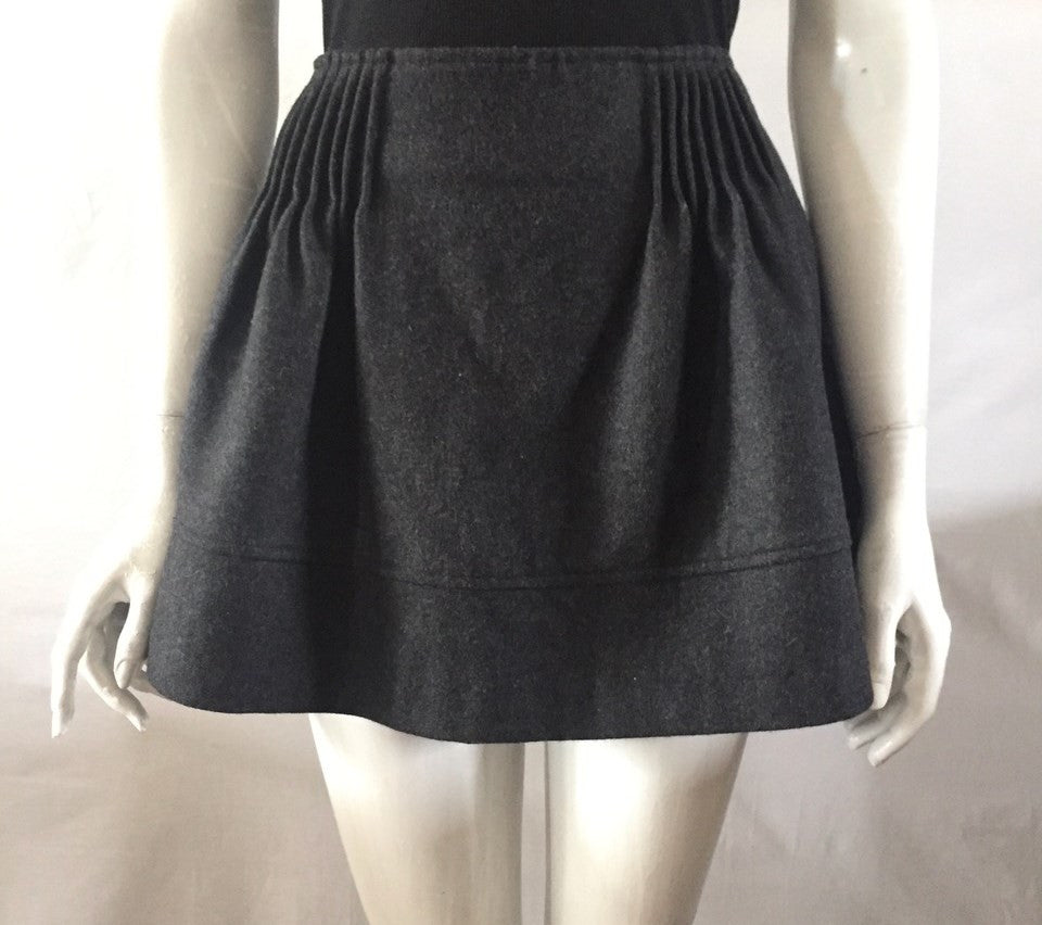 Top Shop Wool Grey Mini Skirt Size 8