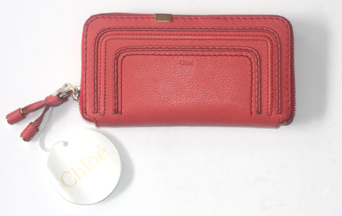 Chloe Marcie Pink Zip Around Wallet - Joyce's Closet  - 1