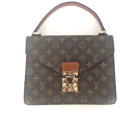 Vintage Louis Vuitton Monogram Canvas Monceau Briefcase Bag