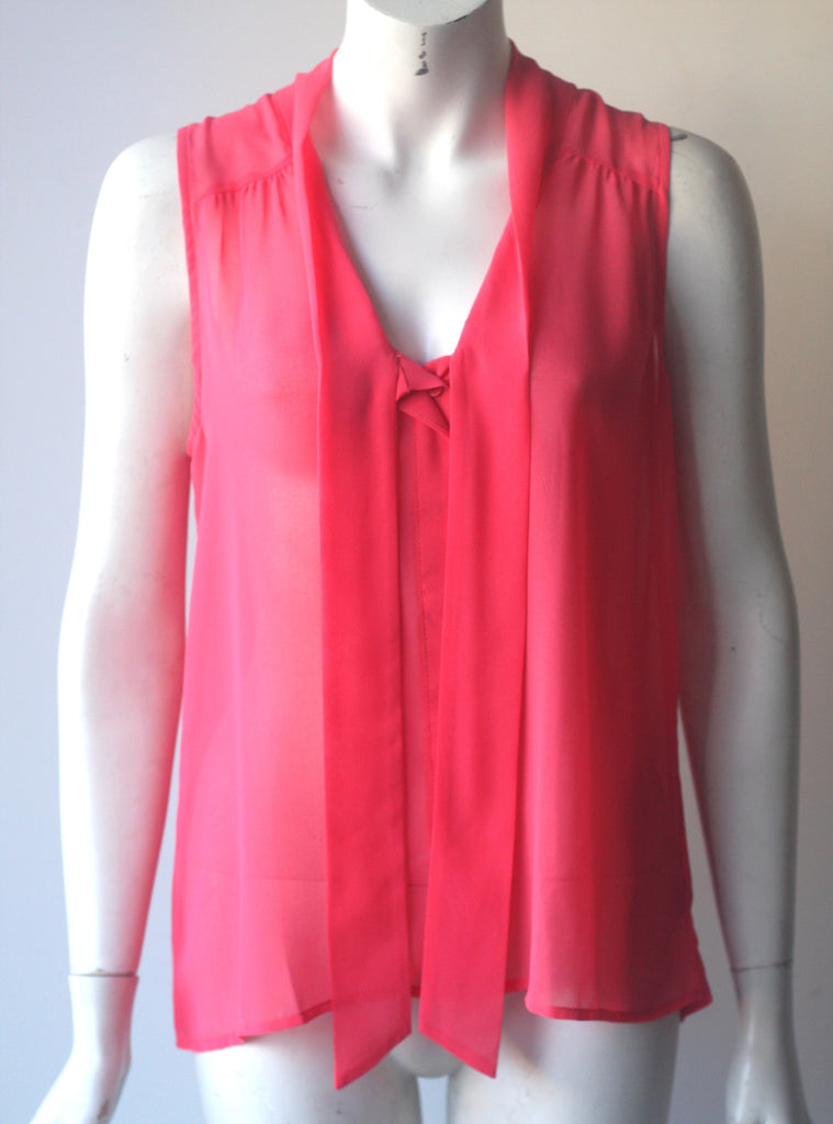 Brand New Sanctuary Pink Sleeveless Blouse - Joyce's Closet  - 1