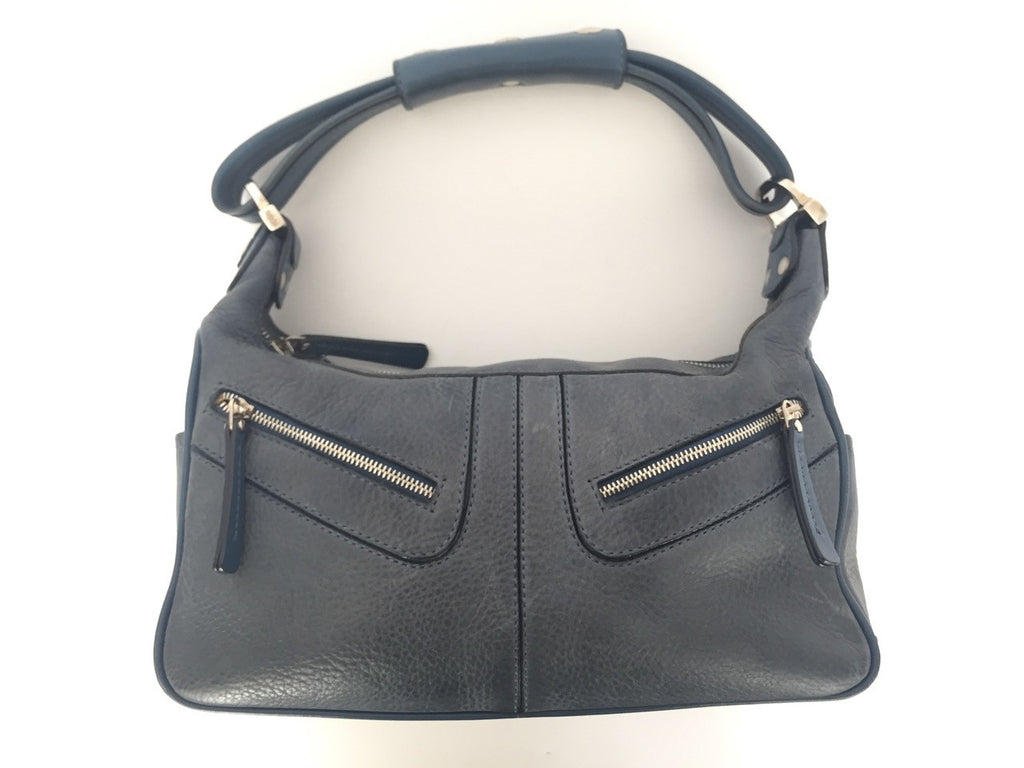 Tods Blue Milky Leather Bag