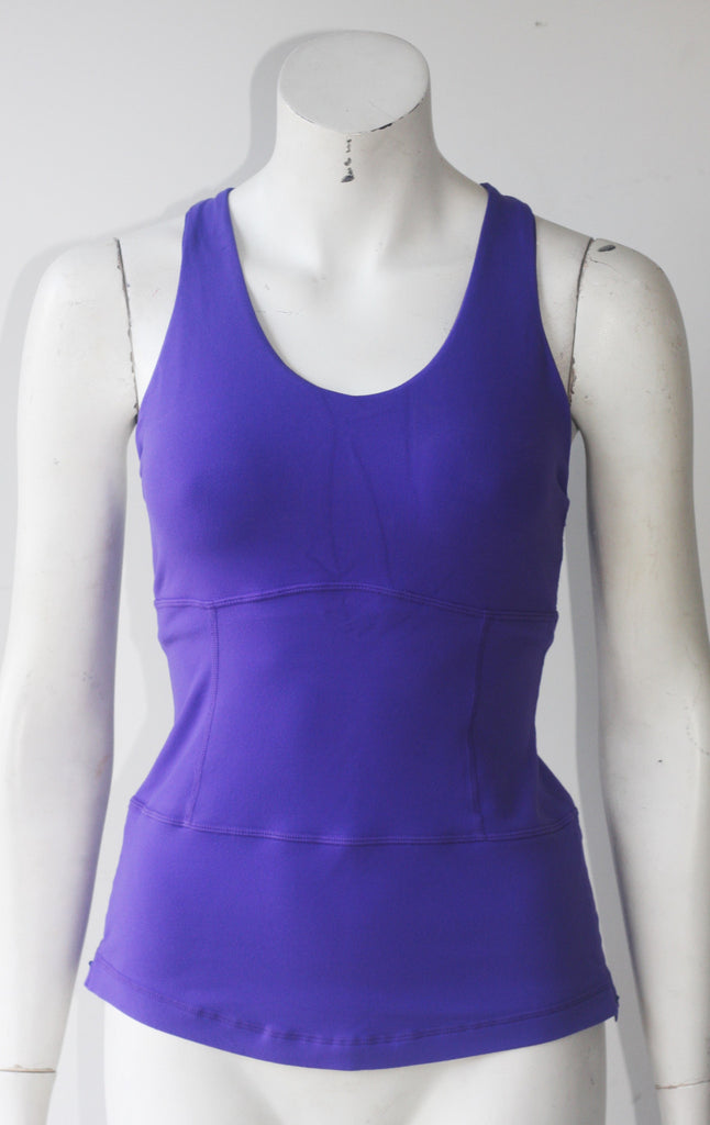 Lululemon Athletica Purple Stretch Racer Back Tank - Joyce's Closet  - 1