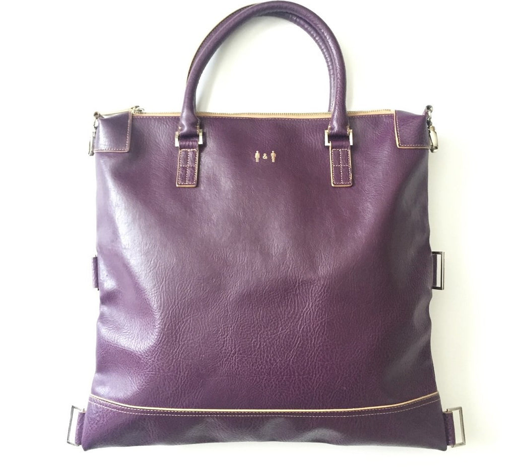 Matt & Nat Purple Vegan Leather Large Satchel