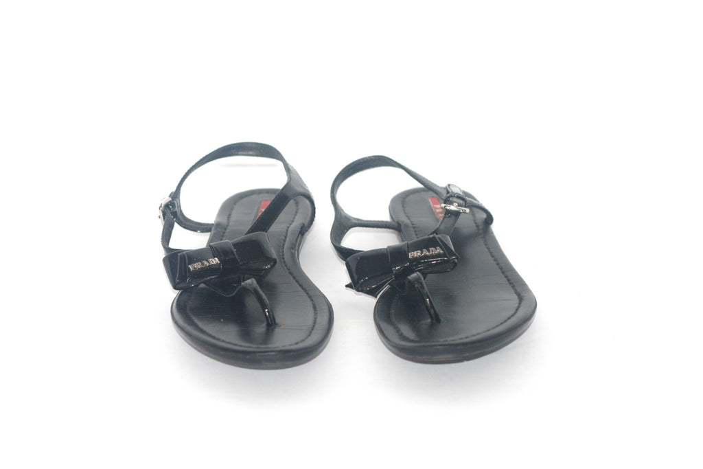 442a88ca588aa ... Prada Black Patent Leather Black Thong Sandals - Joyce s Closet - 6