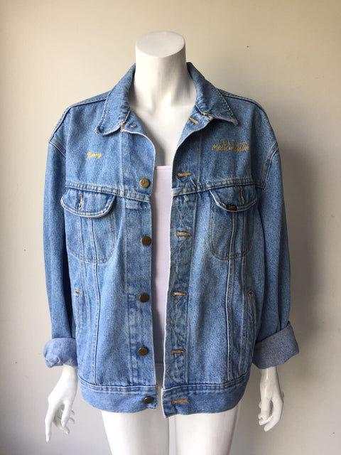 Vintage Unisex Lee Light Wash Oversized Jean Jacket Size XL