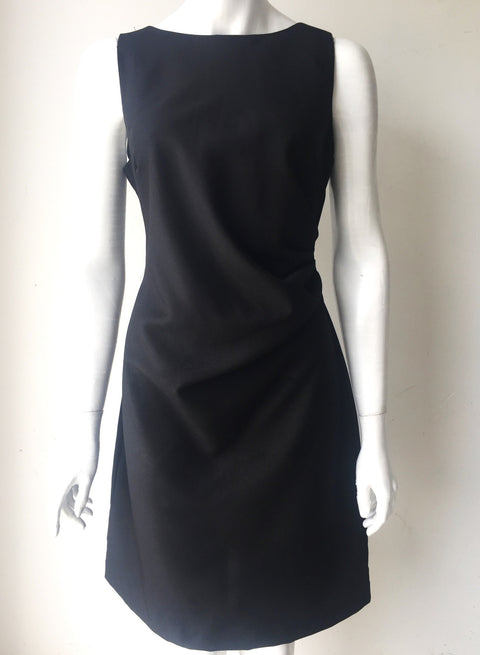 Katherine Barclay Black Sheath Ruched Dress Size 8