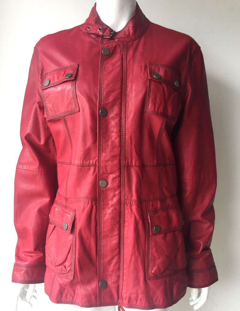 Brand New Boutique Of Leather Red Leather Jacket Size XL