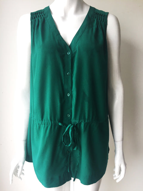 Banana Republic Green Sleeveless  Blouse Size L