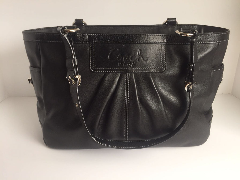 Coach  Medium Black Leather Tote