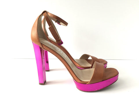Michael Kors Brown & Fuschia Heels Size 6.5