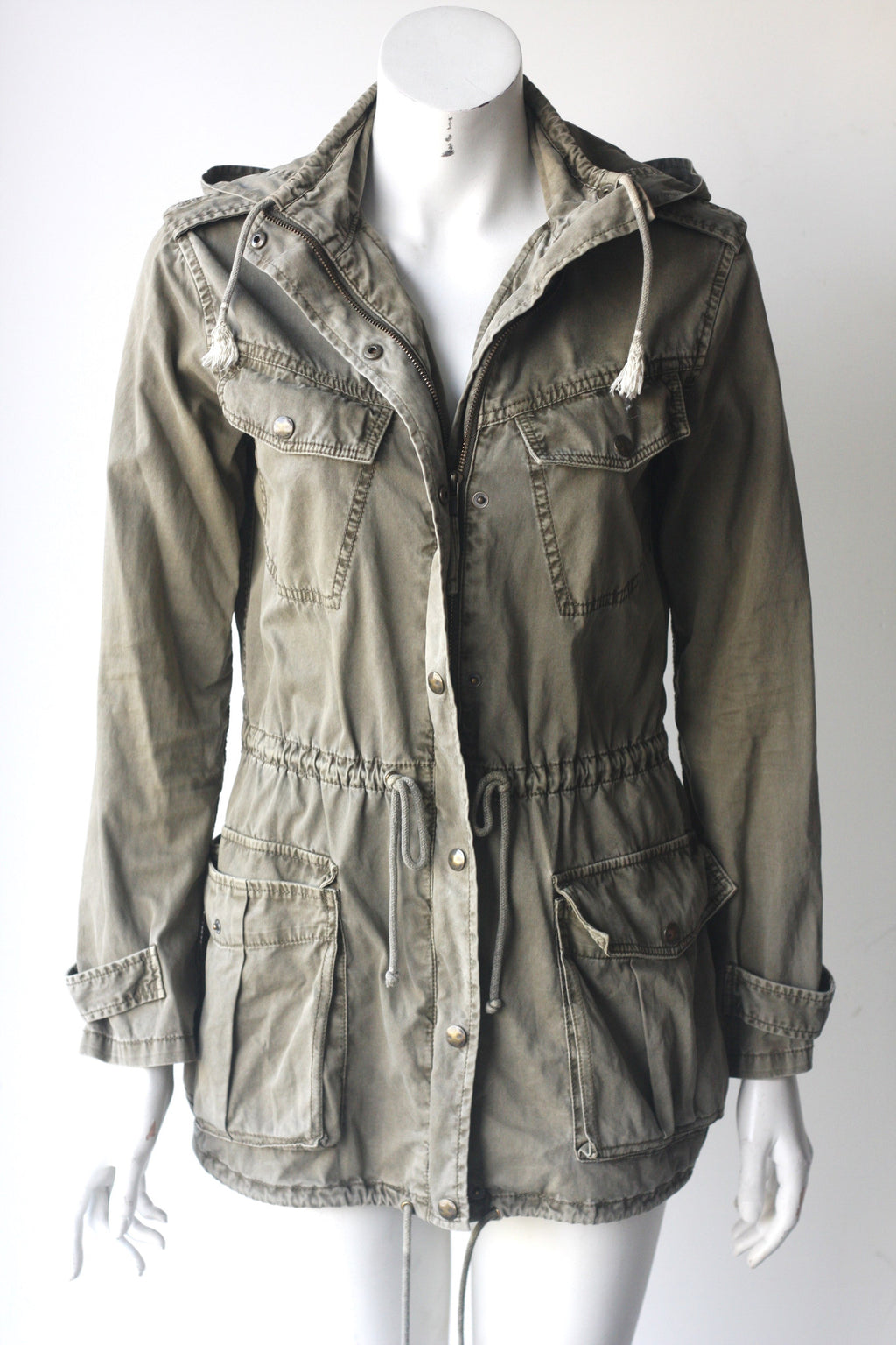 Talula Green Trooper Hooded Cargo Jacket - Joyce's Closet  - 1