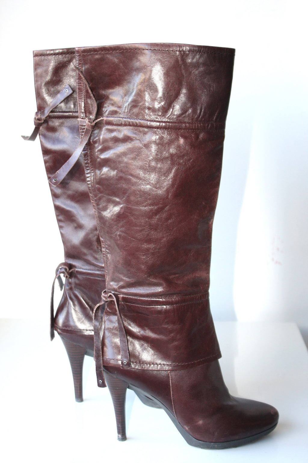 Nine West Tall Leather Boots - Joyce's Closet  - 1