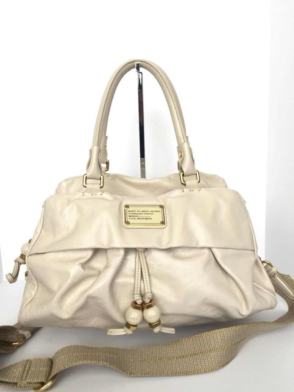 Marc by Marc Jacob Cream Leather Satchel