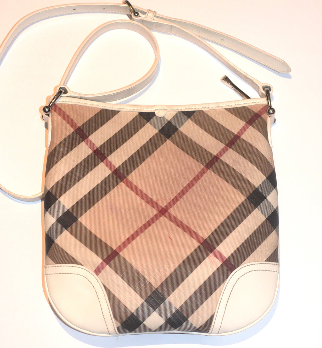 Burberry Nova Check Patent Leather Cross Body Bag - Joyce's Closet  - 1