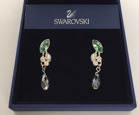 Brand New Swarovski Garland Leaves Drop Pierced Earrings 992668