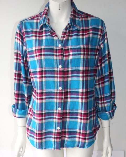 Lucky Brand Blue Plaid Long Sleeve Shirt