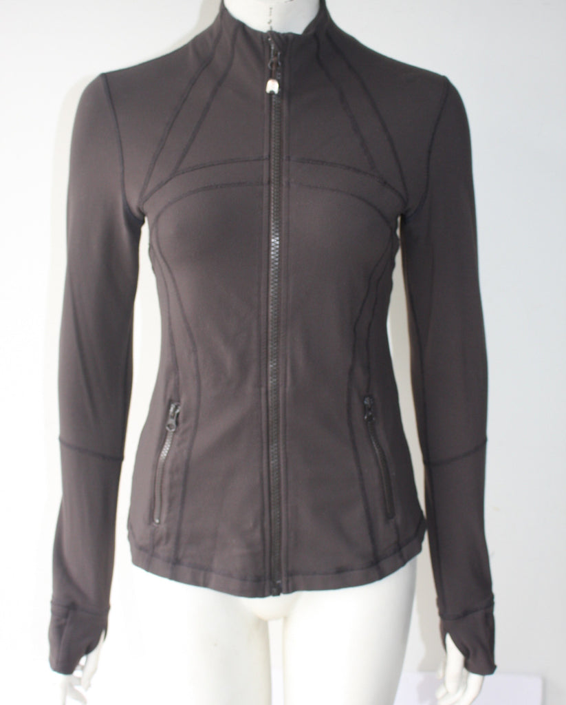 Lululemon Athletica Brown Running Sweater Jacket - Joyce's Closet  - 1