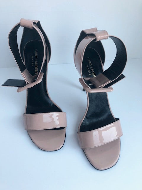 Saint Laurent Nude Ankle Strap Sandals Size 39