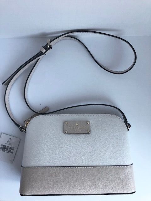 Brand New Kate Spade Hanna Wellesey Cream & Nude Crossbody Bag