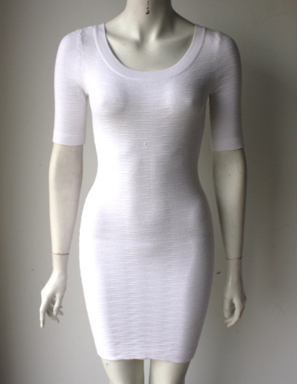 Guess by Marciano White Round Neck BodyCon Dress - Joyce's Closet  - 1