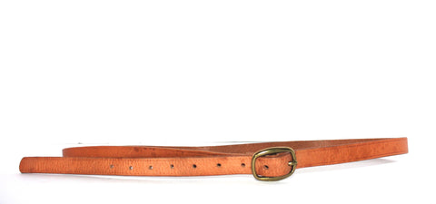 Wilfred Skinny Brown Leather Belt