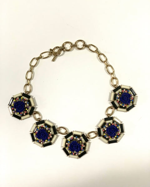 Banana Republic Blue Cluster Necklace