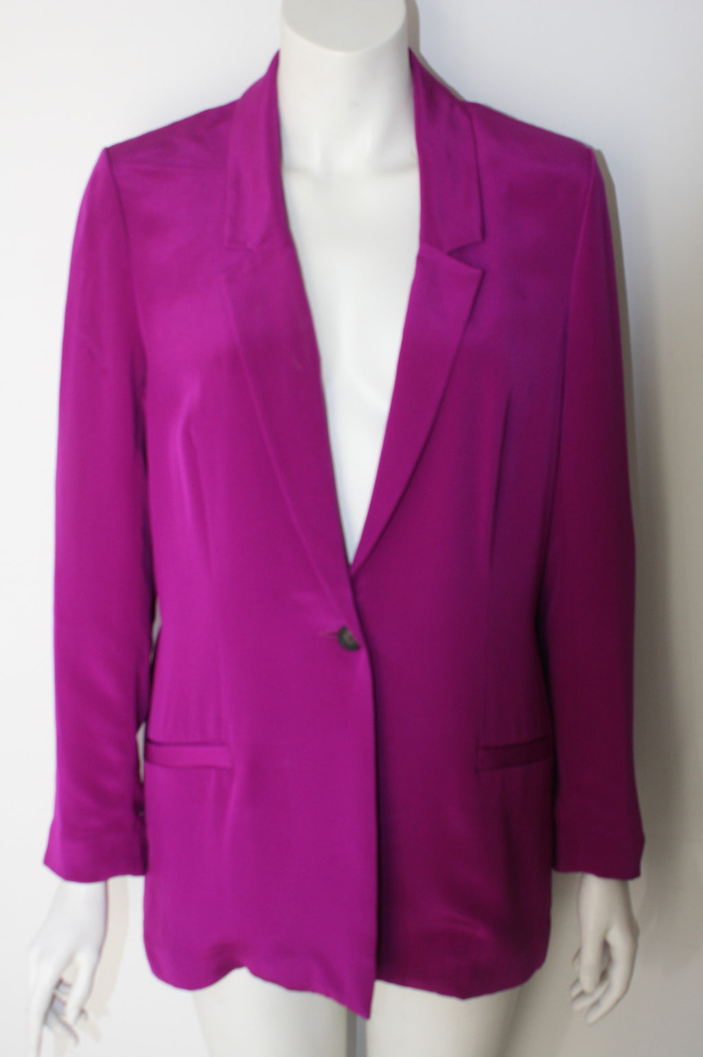 Jay Godfrey Purple Kanate Silk Boyfriend Blazer - Joyce's Closet  - 1