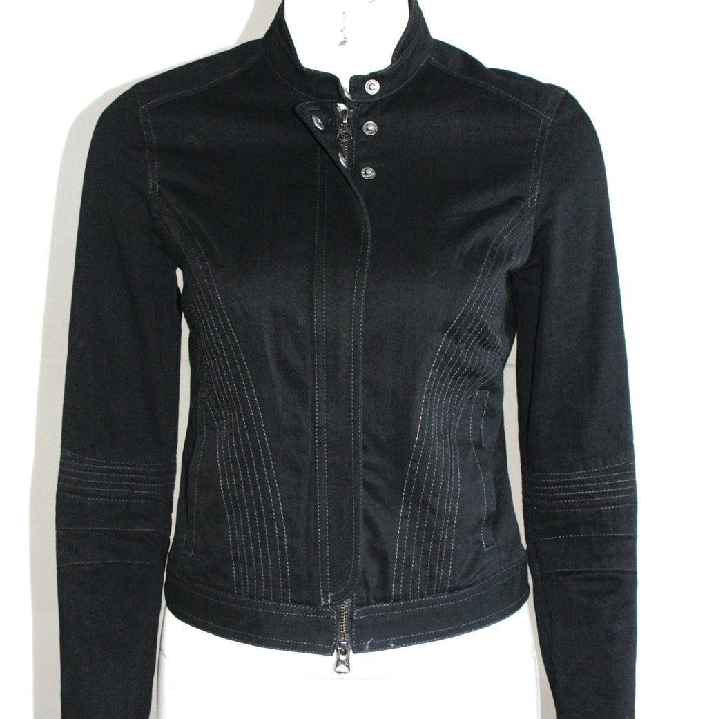 Armani Exchange Black Motorcycle Style Jacket - Joyce's Closet  - 1