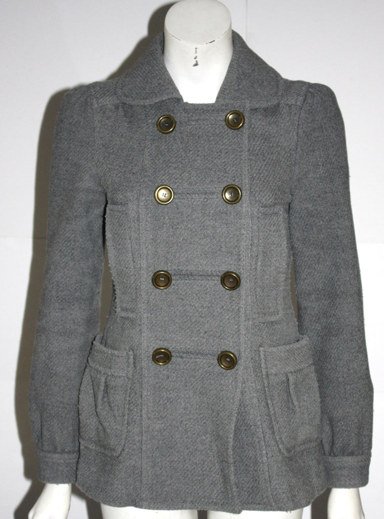 Marc by Marc Jacobs Grey Wool Pea Coat - Joyce's Closet  - 1