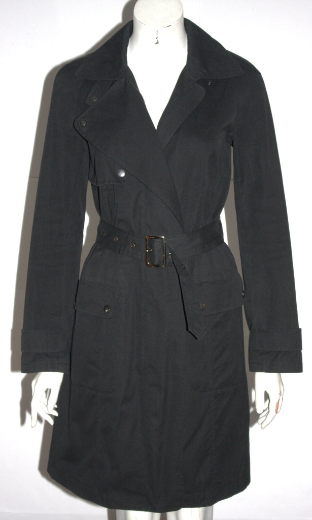 French Connection Black Trench Coat - Joyce's Closet  - 1