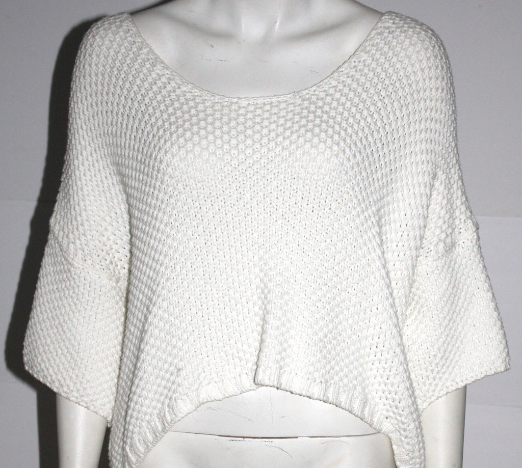 Philosophy White Knit Sweater Top - Joyce's Closet  - 1