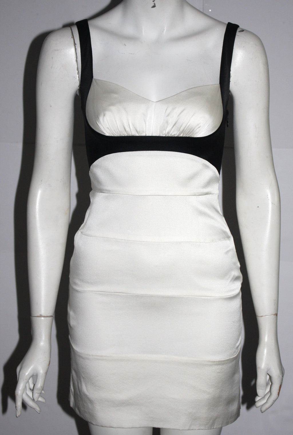 BCBG Max Azria Black & White Silk Dress - Joyce's Closet  - 1