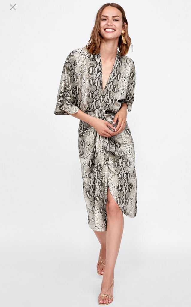 Brand New Zara Snake Print Dress Size S