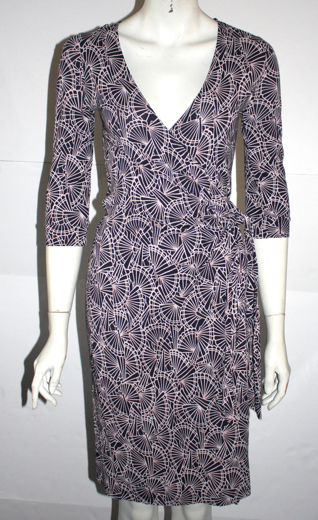 French Connection Pattern Wrap Dress Size 6