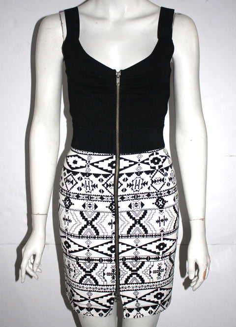 Dolce Vita Aztec Print Black & White Dress Size XS