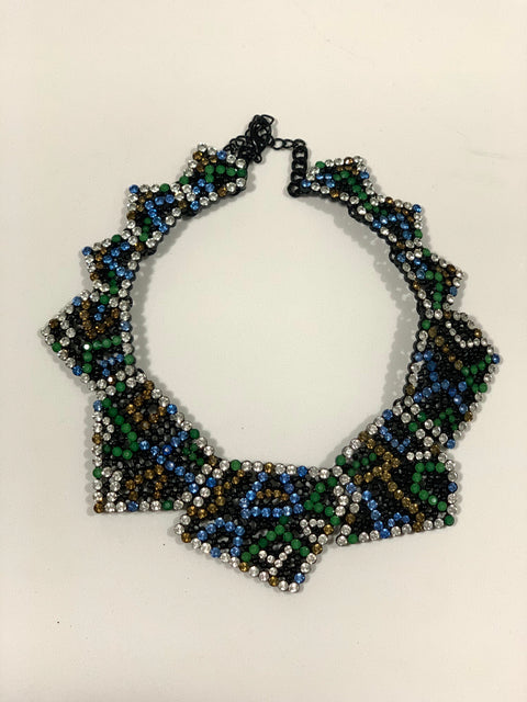 Zara Multi-Coloured Rhinestone Choker Necklace